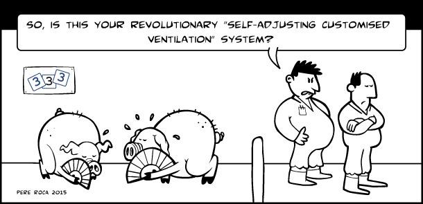 Self-adjusting customised ventilation