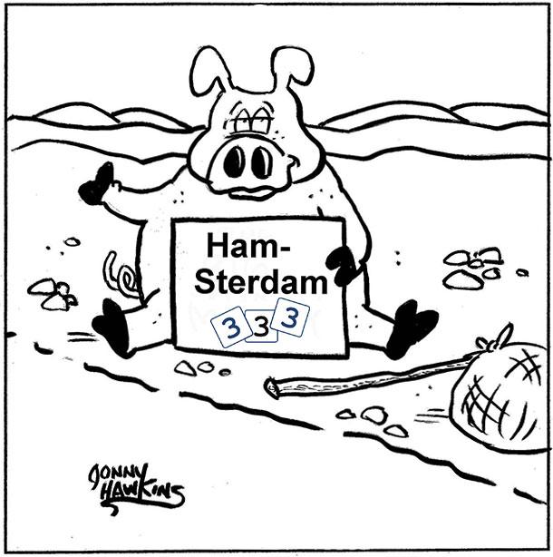 Hitchhiking pig