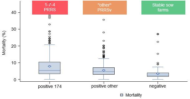 Mortality by PRRSv status