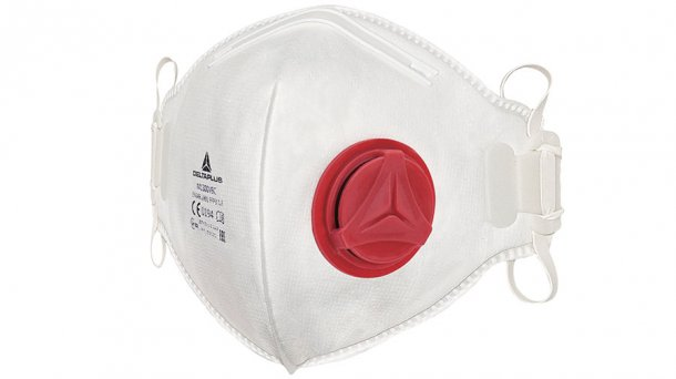 I recommend as minimum respirator protection, a disposable, well fitting, 2 strapped dust mask.