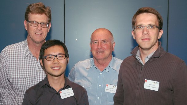Alan Skerman, Shao Dong Yap, Rob Wilson and Stephan Tait all tackled how to turn piggery waste into potentially profitable bioenergy under the Pork CRC's successful Bioenergy Support Program.