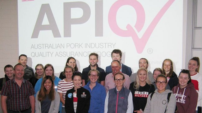 Participants at the 2019 Roseworthy course after the APIQ session delivered by APL.