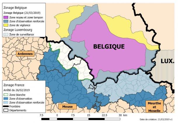 Areas ASF France Belgium