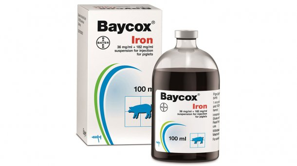 Bayer's Baycox® Iron Injection helps protect suckling piglets from coccidiosis and iron deficiency with less handling and stress.