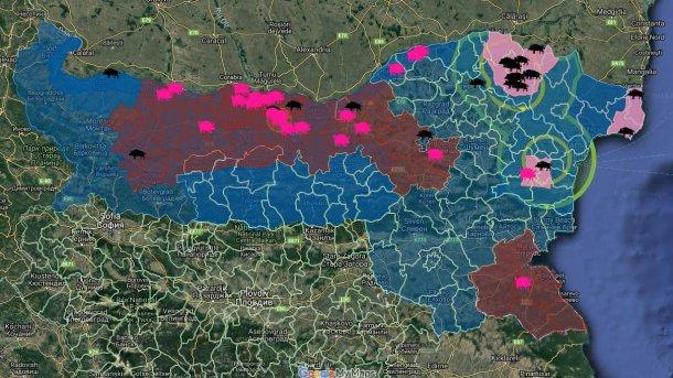 Total ASF outbreaks in Bulgaria