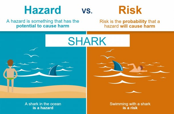 Figure1. The difference between hazard and risk. Source: EFSA