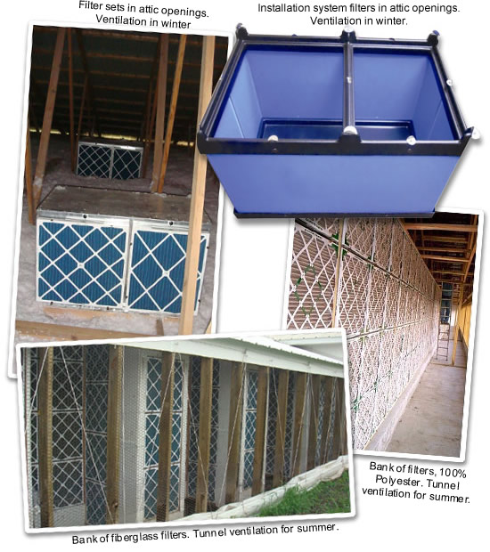 Air filtration on swine farms