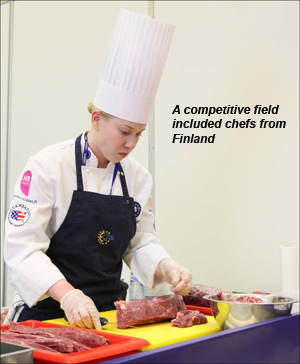 A competitive field included chefs from Finland
