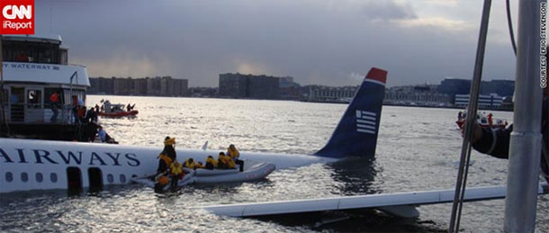 US Airways flight no.159 that crashed into the Hudson River.
