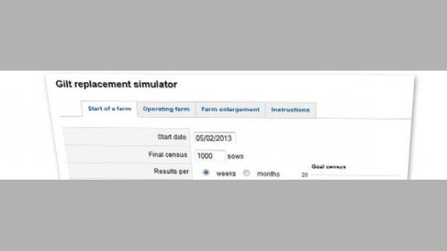 Replacement rate simulator