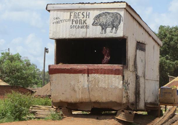 Butcher in Gulu, Uganda