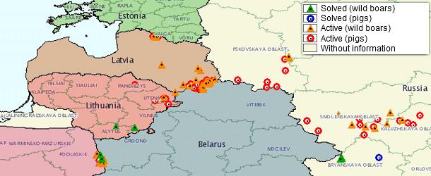 ASF outbreaks in Europe