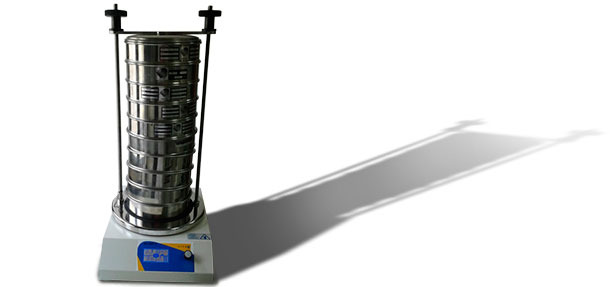 Sieve stack on a sieve shaker